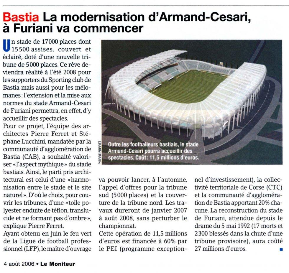La modernisation d'Armand-Cesari, à Furiani va commencer