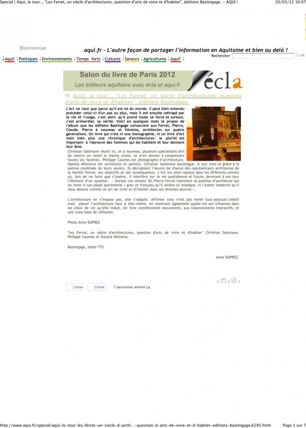 2012 Book Forum