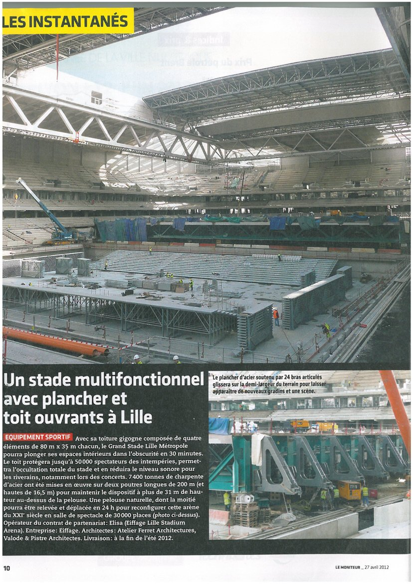 A multifunctional stadium with mobile floor and ceiling in Lille