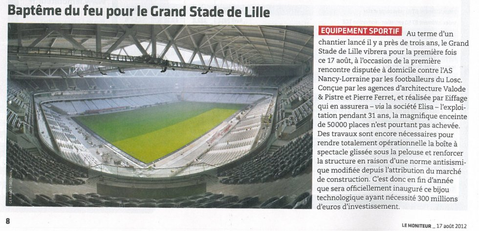 Big challenge for the Great Lille Stadium