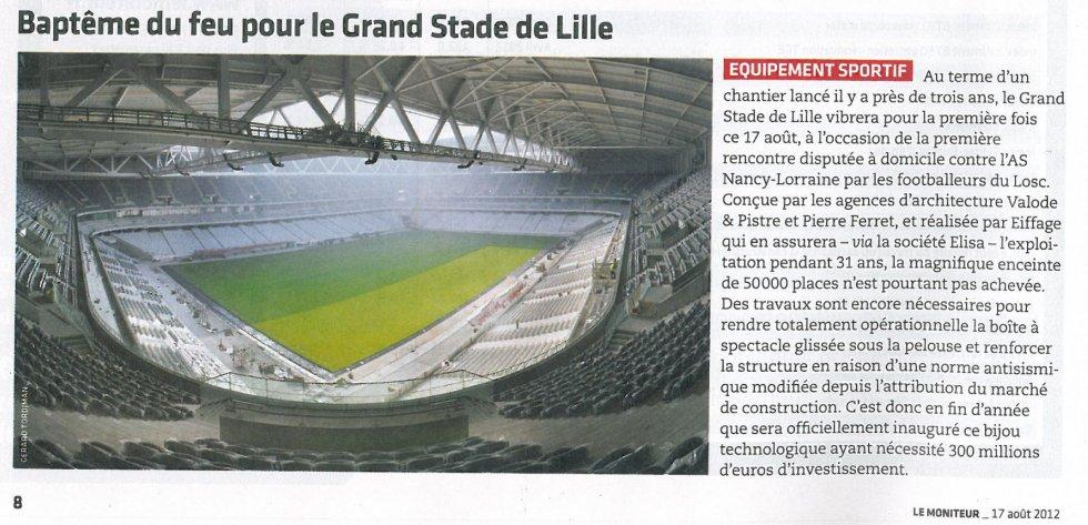 Baptême de feu pour le Grand Stade de Lille