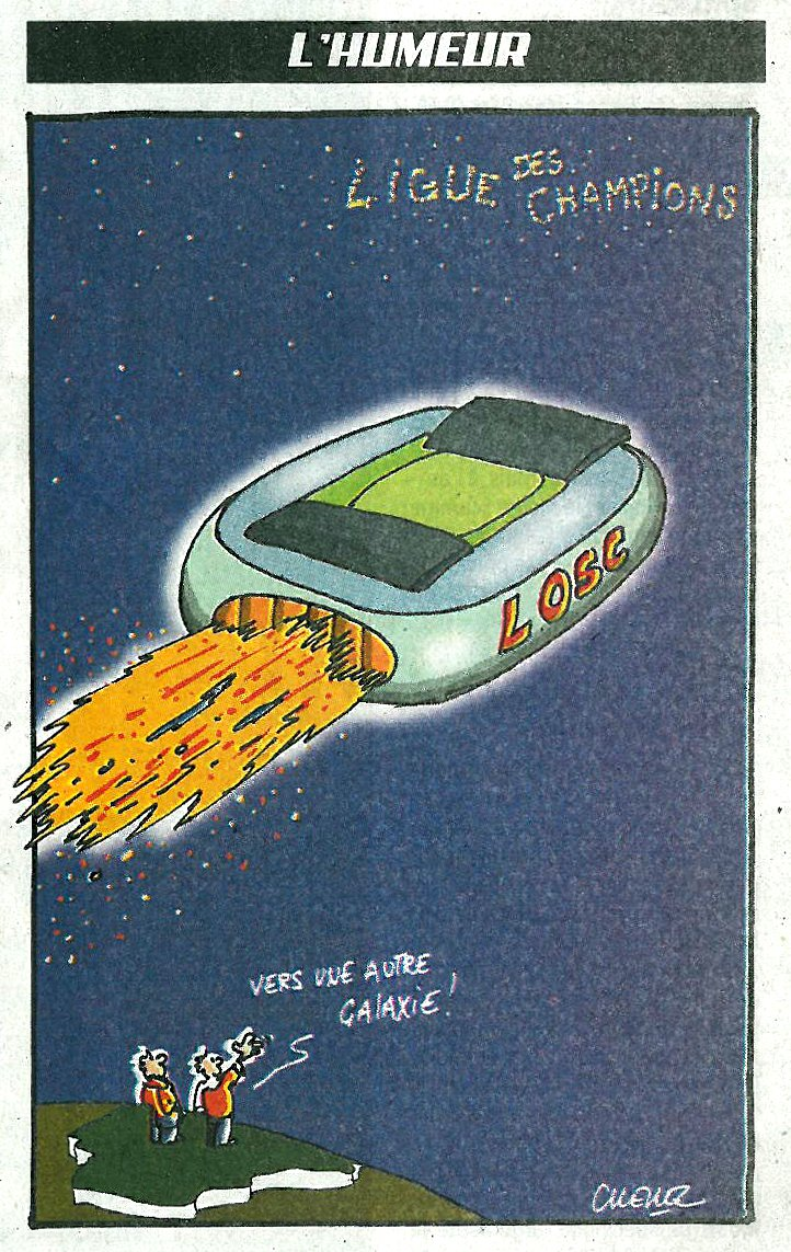 "The ""LOSC"" (lille football team) to another galaxy…"