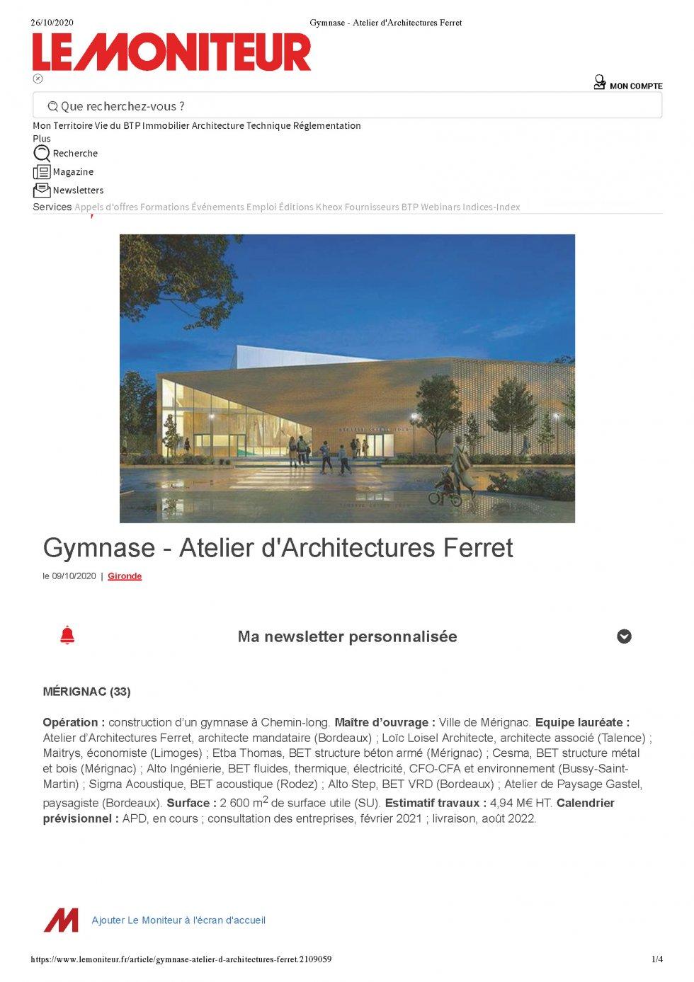 Gymnasium – Mérignac