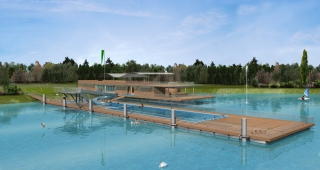Outdoor swimming pool - Stadium architect / Sport architecte studio