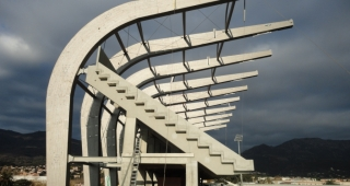 Construction of the Armand Césari Stadium - Stadium architect / Sport architecte studio