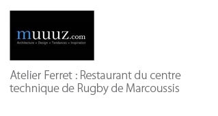 Ferret studio : the restaurant of the national rugby center in Marcoussis - Sport architecte studio