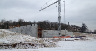 It 's snowing on our construction sites ! - Stadium architect / Sport architecte studio