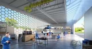 Aeronautical hangar - Stadium architect / Sport architecte studio