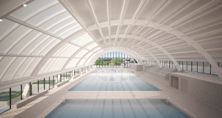 Sports, cultural and housing facilities architecture studio : Restructuring of the Galin swimming pool