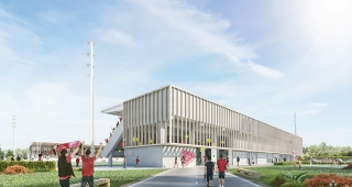 Sports, cultural and housing facilities architecture studio : (Français) Reconstruction d'une tribune