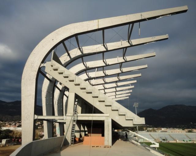 Chantier du stade Armand Césari - Agence architecture équipements sportifs, culturels et logements