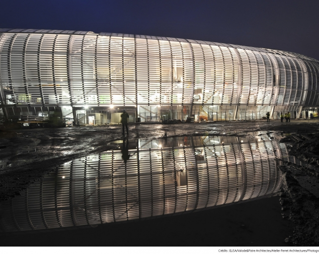 The construction of Lille Stadium - Sports, cultural and housing facilities architecture studio