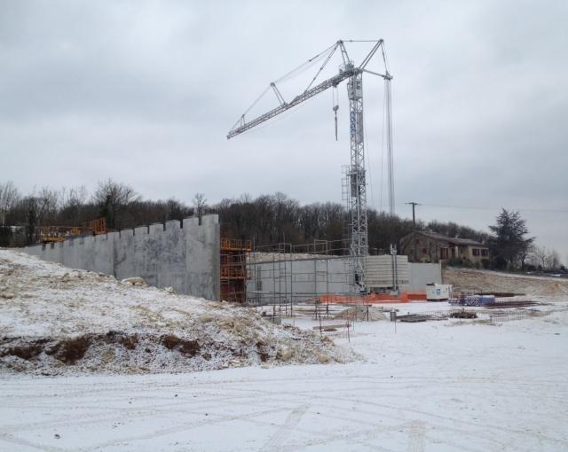 Il neige sur nos chantiers ! - Agence architecture équipements sportifs, culturels et logements