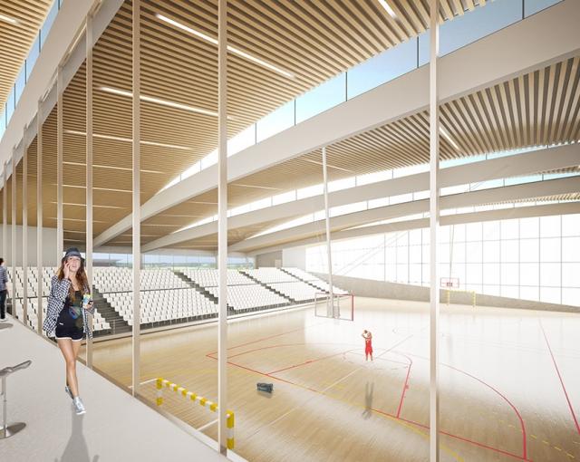 complexe sportif de bellegrave atelier ferret architectures equipements sportifs culturels