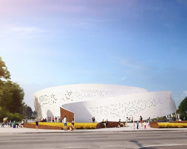 Nouvelle aréna de Perpignan - Agence architecture sport