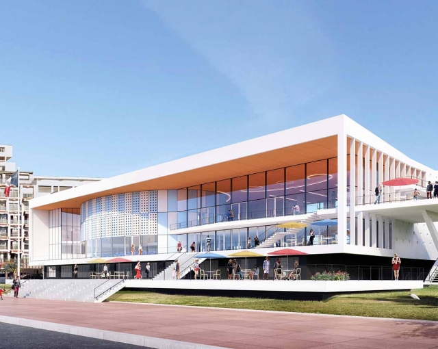 Congress Palace of Royan - Sports, cultural and housing facilities architecture studio