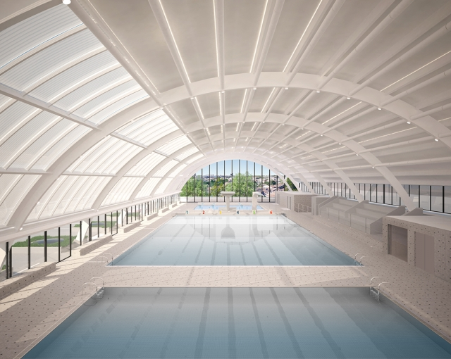 restructuring of the Galin swimming pool - Sports, cultural and housing facilities architecture studio
