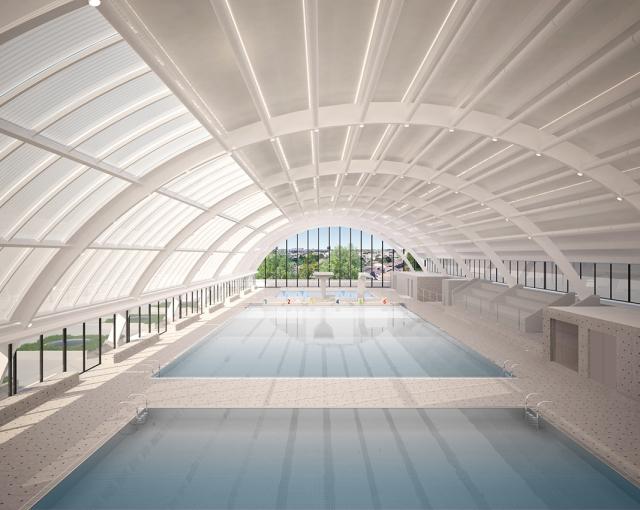 Restructuration de la piscine Galin - Agence architecture équipements sportifs, culturels et logements