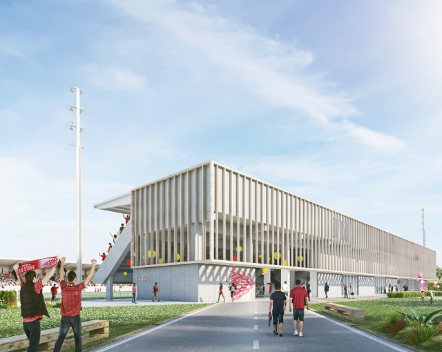 Reconstruction d'une tribune - Agence architecture sport